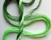 "Embroidery floss ""Celery"" hand dyed cotton"