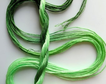 """Embroidery floss """"Celery"""" hand dyed cotton"""