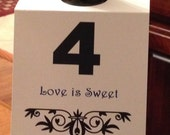 Wine Bottle Table Number Tag