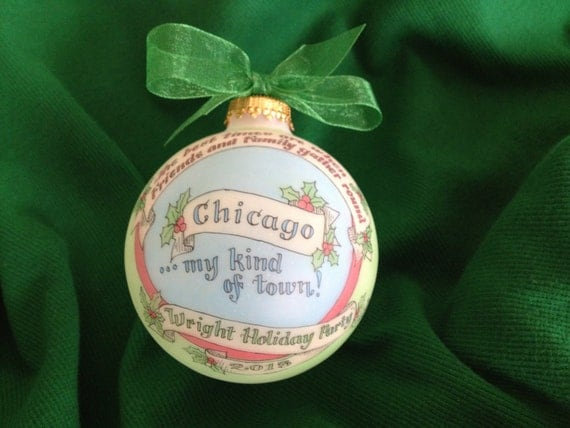 Chicago, Windy City, Second City, Chitown, Keepsake Handpainted Personalized Ornament, Totally Original Design