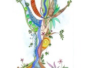 Original watercolour painting, Tree of Life 18, by melanie j cook