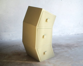 Bent Chest of Drawers in Green