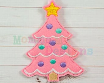 Christmas Tree Ornament Felt Embroidery Design