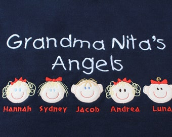 Custom Personalized Mom Mommy Grandma Nana Oma Grandpa Papa Sweatshirt up to 5 faces S M L XL 2x 3x 4x 5x