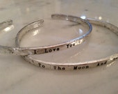 I Love You to the Moon and Back Bracelet. Guess How Much I Love You