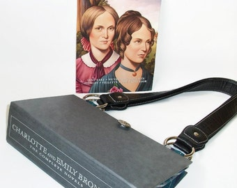 Book Purse Charlotte and Emily Bronte Novels Handbag, Book Bag, Clutch, Jane Eyre