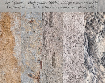 Stone Textures for Photographers - use in Photoshop JPG files.  Stone grey ochre grungy rough textured photos.  4000px instant download