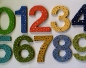 Custom made house numbers