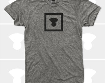 Men's TShirt Icon (Men) Medium Control Logo, Typography, American Apparel Men T-Shirt, Sizes S,M,L,Xl,Xxl (4 Colors) for Men