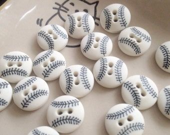 20x Baseball button 15x15mm - Code 88060