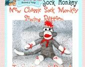 Little Bird Lane Classic Sock Monkey Sewing Pattern PDF Tutorial E-Book
