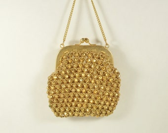 ON SALE!  Vintage 1960s Its In The Bag Made for Ritter in Italy Beaded Purse Kiss Lock Closure