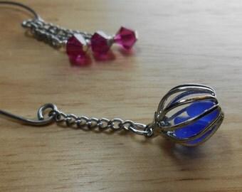 Sea Glass Jewelry - Beach Glass Ear Cuff Wrap - MY FAIRE LADY