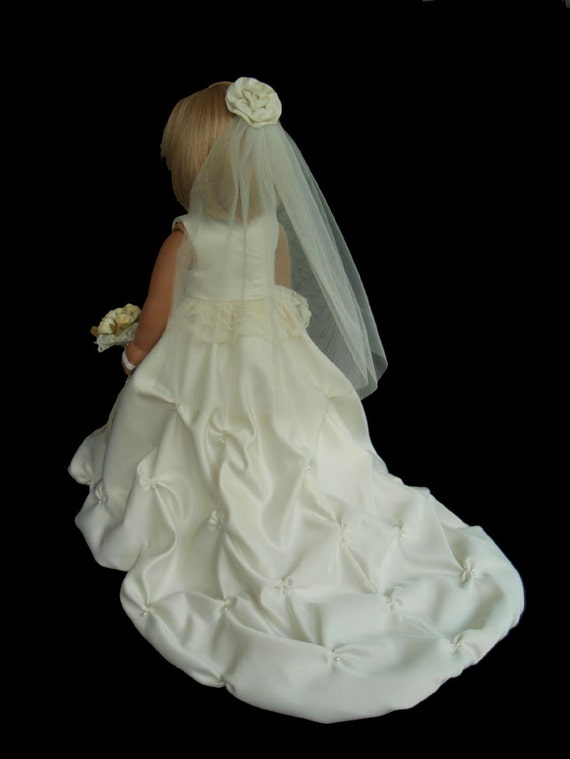 American girl doll clothes ivory princess wedding gown dress for American girl wedding dress