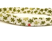 One in a Million - Organic Cotton CAT Collar Breakaway Safety Japanese Garden Vines Flowers - All Antique Brass Hardware