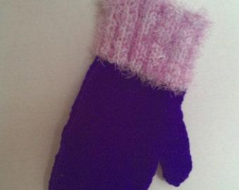 Christmas knit stocking mitten