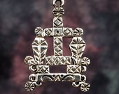 BARON SAMEDI VEVE - Solid Cast Voodoo Veve Lwa Vodou Charm Pendant in Sterling Silver