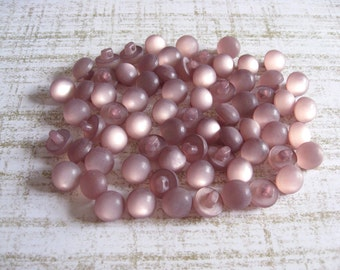 70 Vintage Shank Buttons Lot - destash lot of vintage shank buttons in light lilac colored resin
