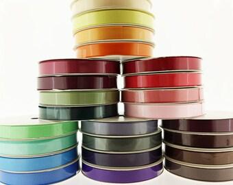 "SALE - 12 spools SAMPLER - 3/8"" Solid Grosgrain Ribbon (60 yards) - Random Mix Variety Pack"