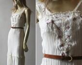 Vintage 70s sundress ~ embroidered flowers ~ Reserved