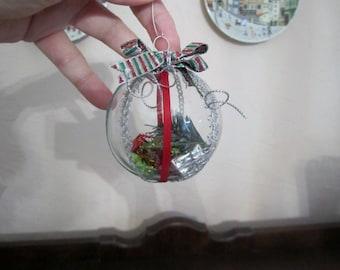 Handmade Glass Christmas Ornaments - set of 3