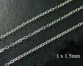10 ft -  Sterling Silver Delicate Cable Chain