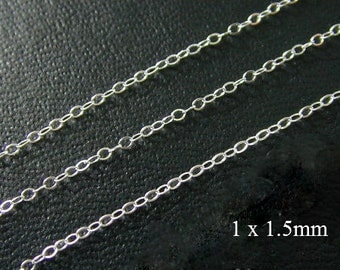 100 ft -  Sterling Silver Delicate Cable Chain