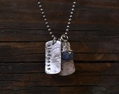 Dog Tag Necklace - Dog Tag Jewelry - Personalized Necklace - Personalized Jewelry - Customized Necklace - EcoFriendly Sterling Silver N2045