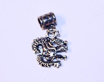 Silver Dragon Lrg Hole Bead Fits All European Style Add a Bead Charm Bracelet Jewelry Pnd-Fn05