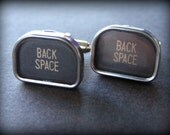 BACK SPACE - Vintage Typewriter Key Cuff Links