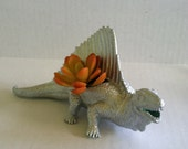 Silver Dinosaur Planter Great Dorm Office Home Decor Gift for Get Well  Boss' Teachers