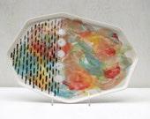 Large Watercolor Dash Platter
