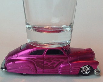 The ORIGINAL Hot Shot, Shot Glass, '47 Chevy Fleetline, SpectraFrost Pink, Hot Wheels