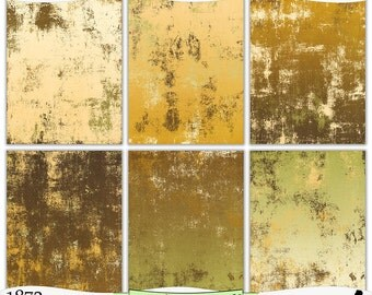 Grungy Brown Beige Green Painted Digital Prints Instant Download Set of 6 - 8.5 x 11 inch Printable Papers JPEG & PDF Commercial Use 1872
