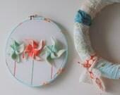 PINWHEEL embroidery wall hoop : IN STOCK