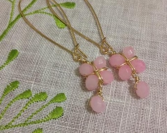 Morning Glory Earrings Pink