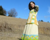 Braided Patchwork Apron Top and Skirt set