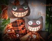 Primitive halloween black cat e-PATTERN INSTANT DOWNLOAD #133 Mystik and Majik Hafair Faap