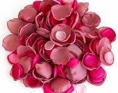Handmade flower petals in three shades of pink - silk petals, fabric flowers, wedding decor, rose petals, flower girl petals, photo prop