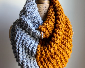 SALE!!!!Super Snuggly chunky knit cowl Amber. Grey. Infinity scarf.