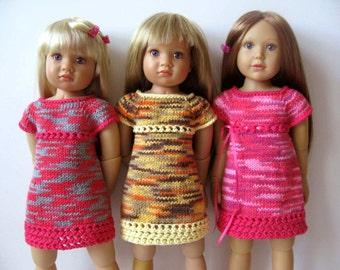 SUMMER TWIGGY Dress slim 18 inch doll Kidz n Cats  Knitting pattern (# 56)