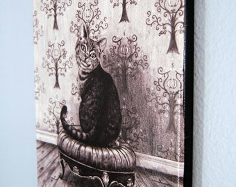 Cheshire Cat Art Limited Edition Canvas Giclee Print 10x13 Alice In Wonderland Art