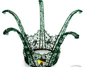 Diantha No. 2 Emerald and Crystal Mini-Crown