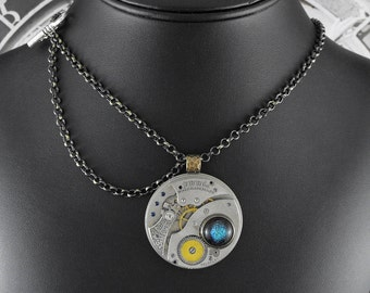 Steampunk Offset Chain Mechanism Necklace - Controlling the Madness by COGnitive Creations
