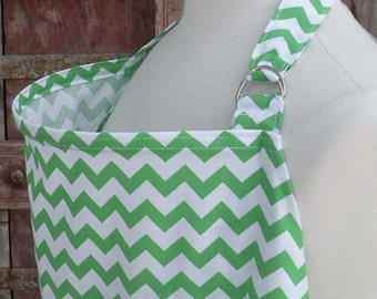 Nursing Cover-Green Chevron-Free Shipping When Purchased With A Wrap