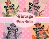 Buy 1 Get 1 FREE Vintage Fairy Doll Shabby Victorian Rose Ephemera Tag Clipart Scrapbooking Digital Graphics Instant DOWNLOAD