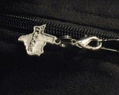 State of Texas Pewter Zipper Enhancer Zipper Pull