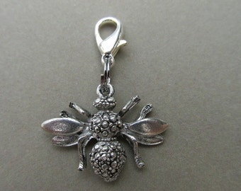 Pewter Butterfly Zipper Enhancer Zipper Pull