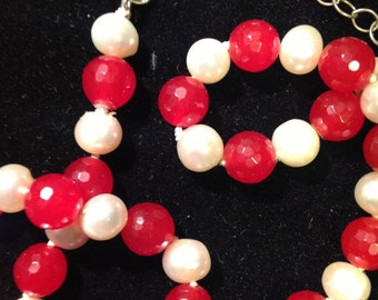 Ruby and Pearl Necklace