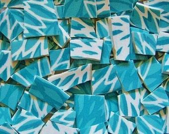 Mosaic Tiles---Aqua Petal  -100 Tiles